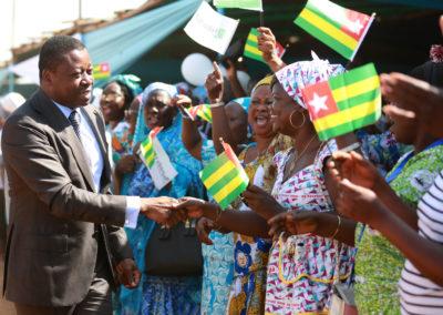 2019-11-28 Faure Gnassingbé Inauguration du pont Koumongou