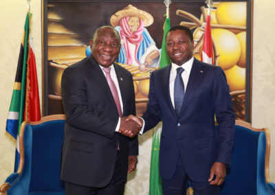 2019-12-06 Faure Gnassingbe et SEM Cyril Ramaphosa